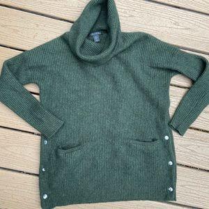 Tahari wool/alpaca blend cowl neck